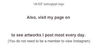 """JA-ES"" petroglyph logo